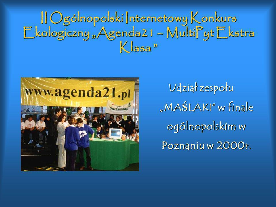 """Udział zespołu """"MAŚLAKI w finale ogólnopolskim w Poznaniu w 2000r."""