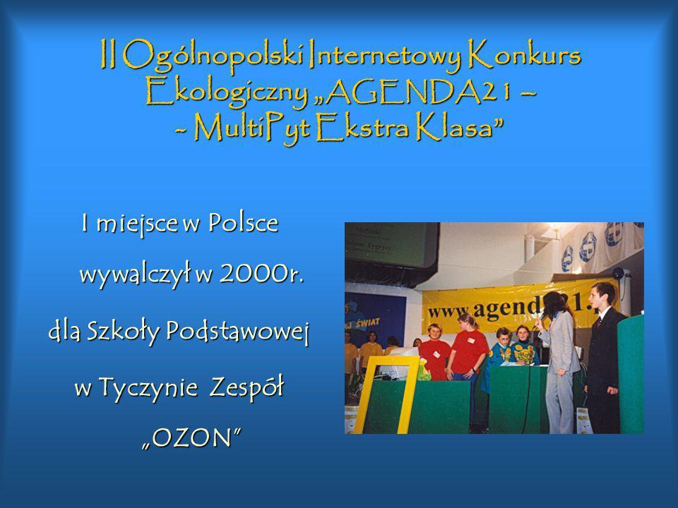 """II Ogólnopolski Internetowy Konkurs Ekologiczny """"AGENDA21 – - MultiPyt Ekstra Klasa"""