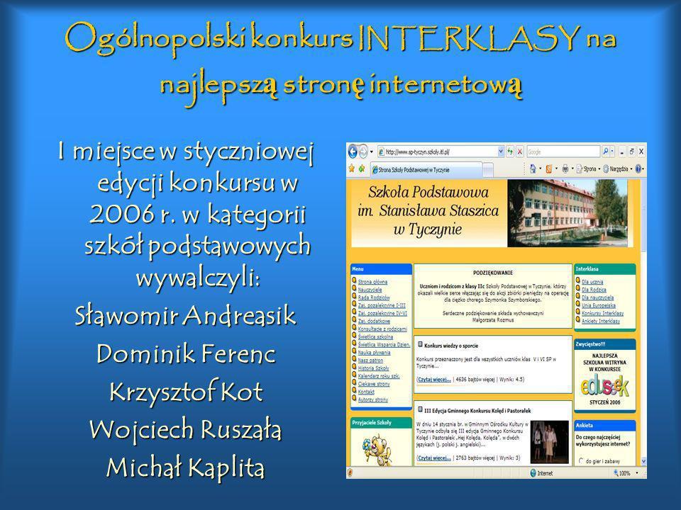 Ogólnopolski konkurs INTERKLASY na najlepszą stronę internetową