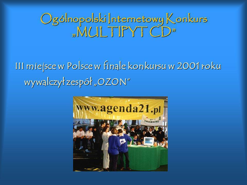 "Ogólnopolski Internetowy Konkurs ""MULTIPYT CD"