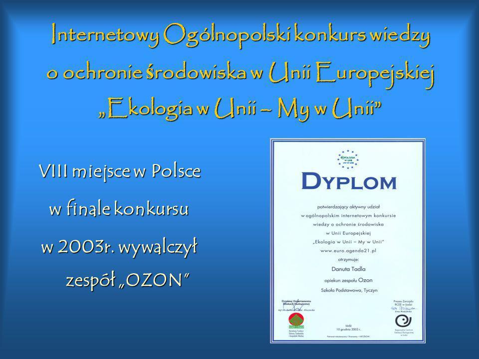 """w 2003r. wywalczył zespół """"OZON"""