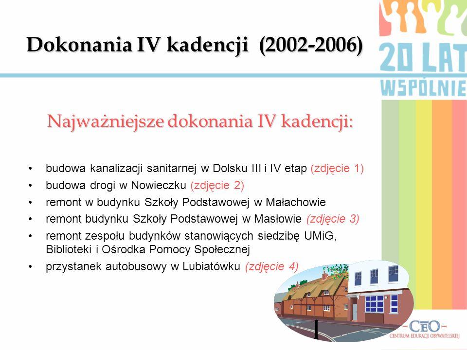 Dokonania IV kadencji (2002-2006)