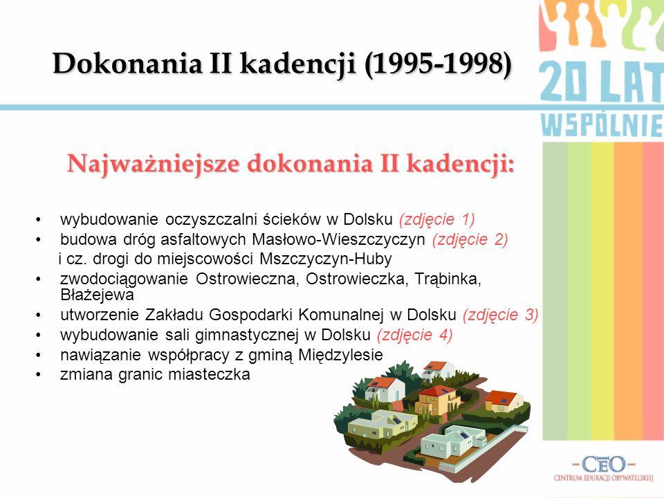 Dokonania II kadencji (1995-1998)