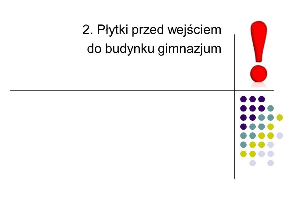 2. Płytki przed wejściem do budynku gimnazjum