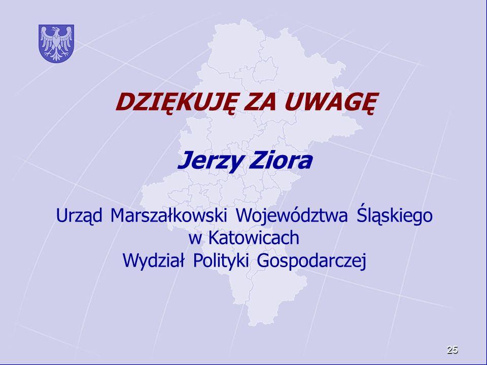 DZIĘKUJĘ ZA UWAGĘ Jerzy Ziora