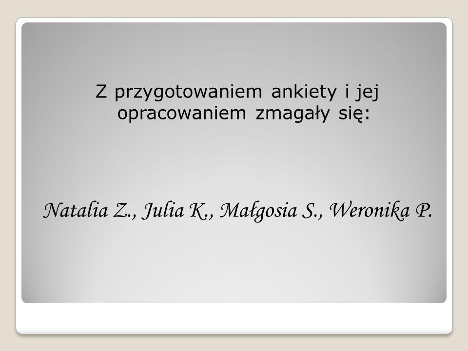 Natalia Z., Julia K., Małgosia S., Weronika P.
