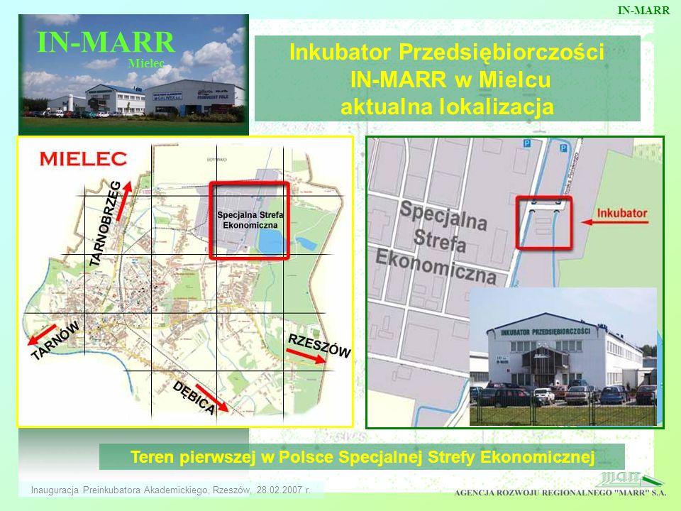 IN-MARR IN-MARR. Inkubator Przedsiębiorczości IN-MARR w Mielcu aktualna lokalizacja. Mielec.