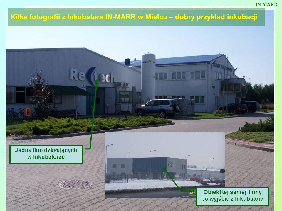 IN-MARR Kilka fotografii z Inkubatora IN-MARR w Mielcu – dobry przykład inkubacji. Jedna firm działających w Inkubatorze.