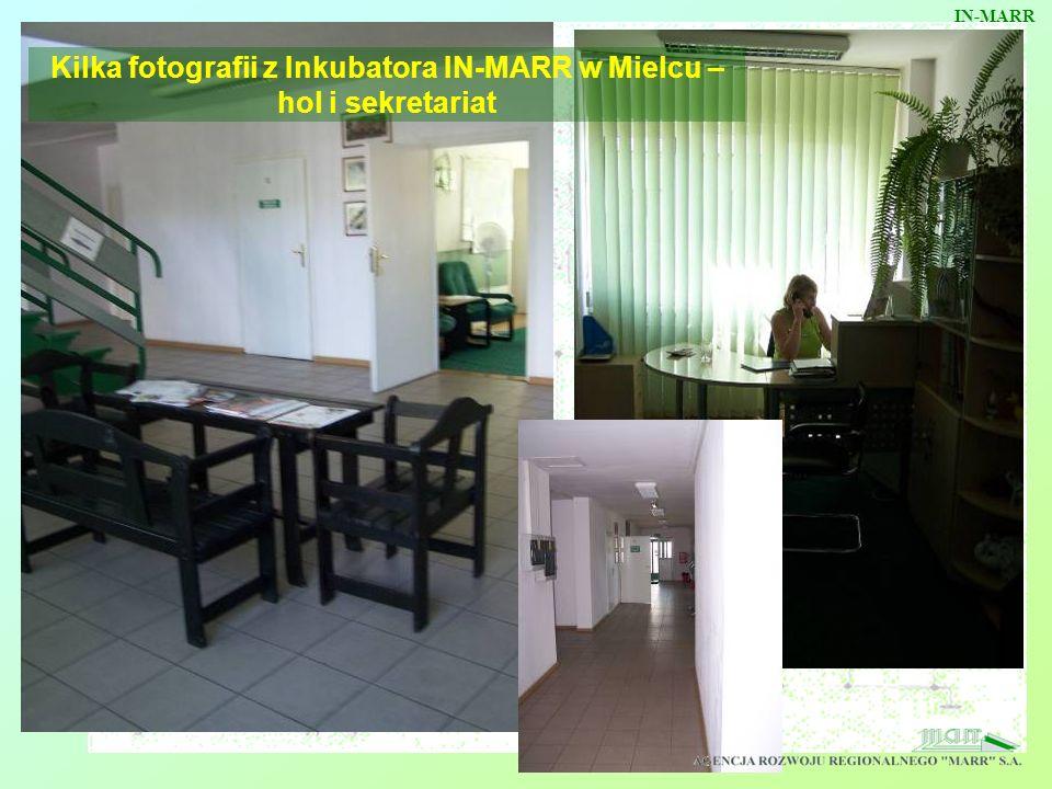Kilka fotografii z Inkubatora IN-MARR w Mielcu – hol i sekretariat