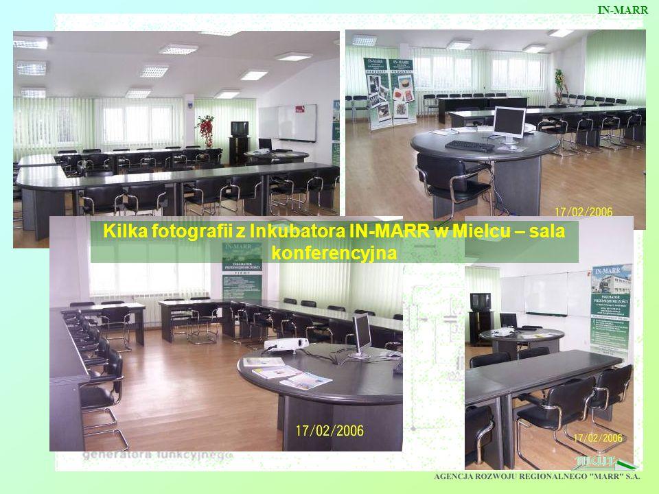 Kilka fotografii z Inkubatora IN-MARR w Mielcu – sala konferencyjna