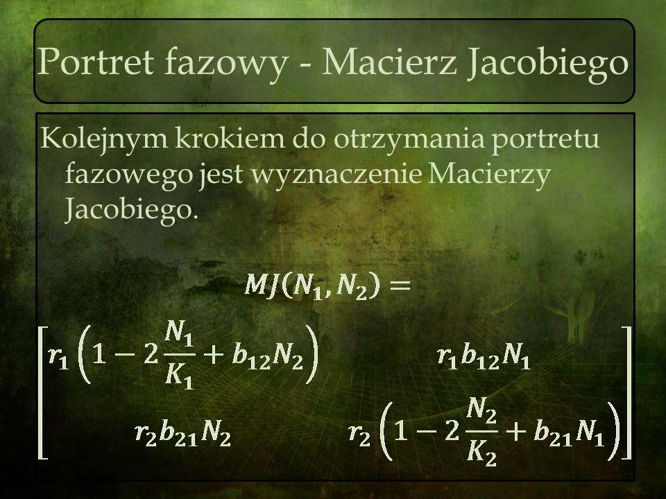 Portret fazowy - Macierz Jacobiego