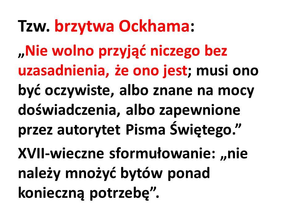 Tzw. brzytwa Ockhama:
