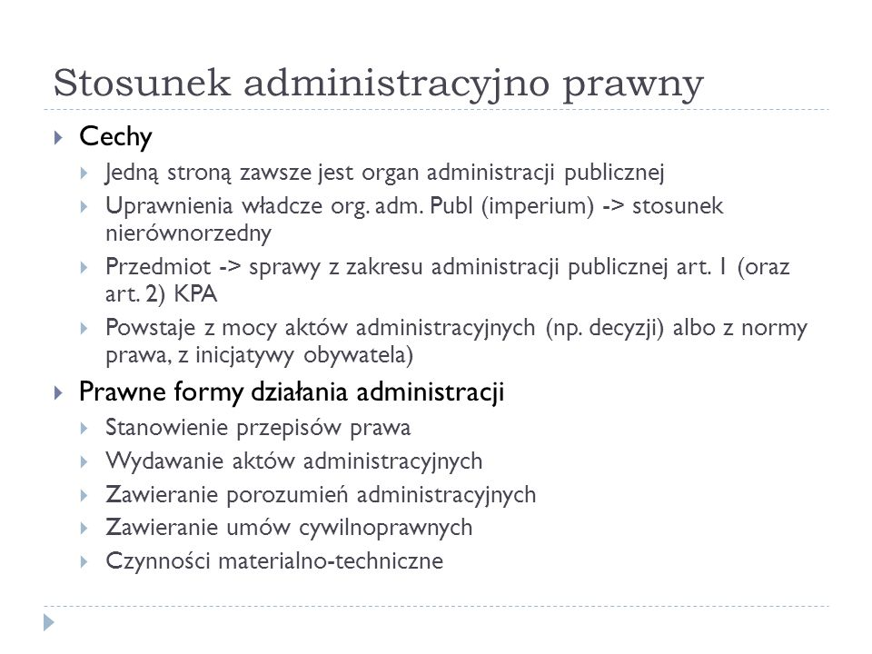 Stosunek administracyjno prawny