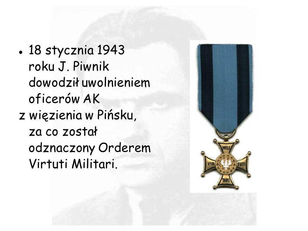 18 stycznia 1943 roku J. Piwnik dowodził uwolnieniem oficerów AK