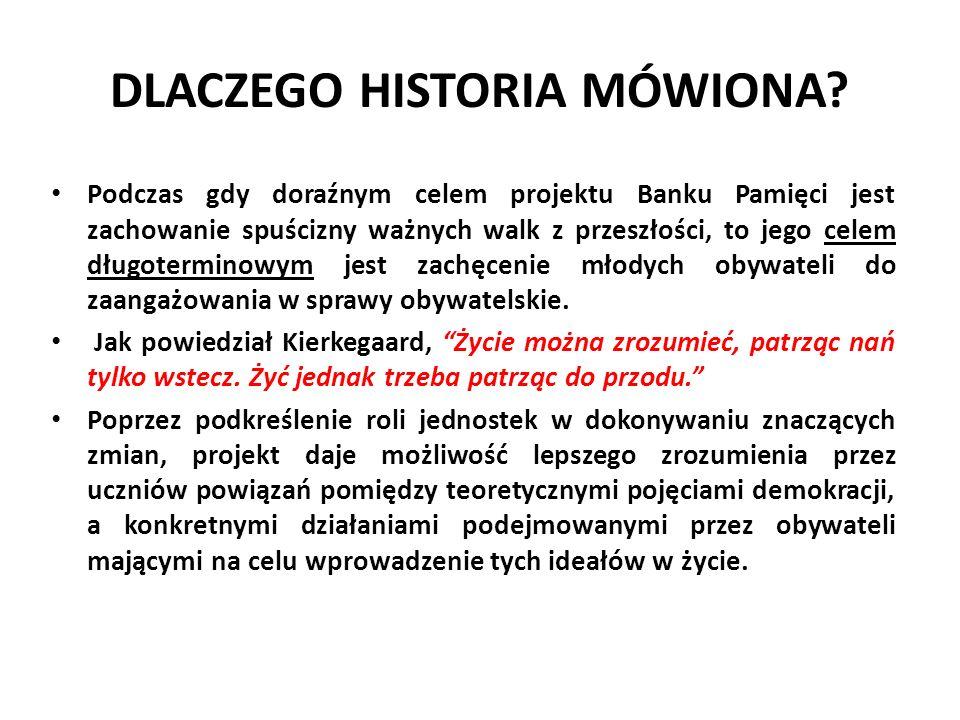 DLACZEGO HISTORIA MÓWIONA