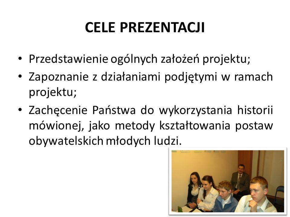 CELE PREZENTACJI Przedstawienie ogólnych założeń projektu;