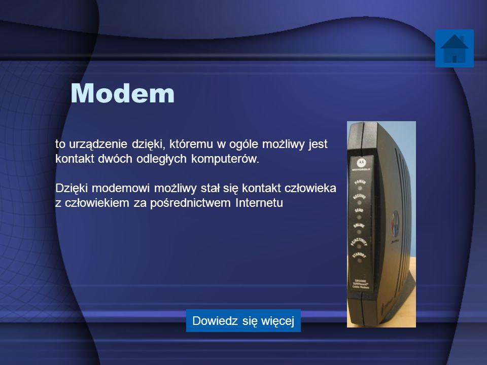 Modem to urządzenie dzięki, któremu w ogóle możliwy jest