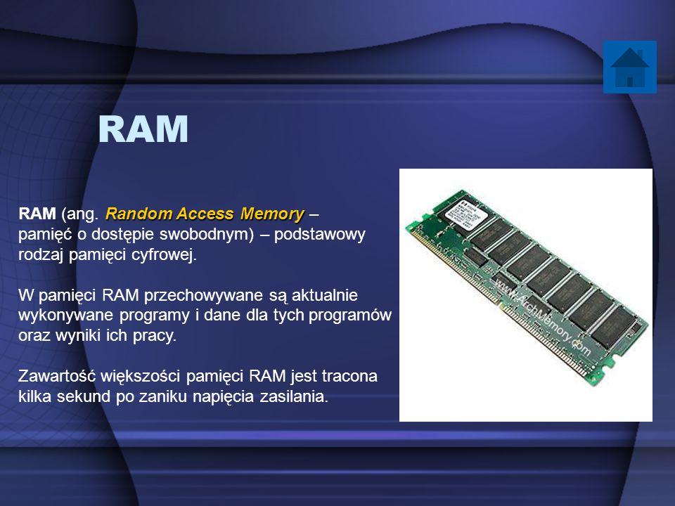 RAM RAM (ang. Random Access Memory –