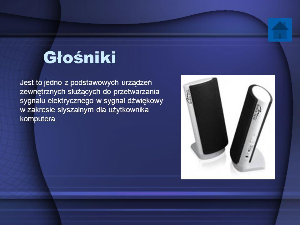 Głośniki Jest to jedno z podstawowych urządzeń