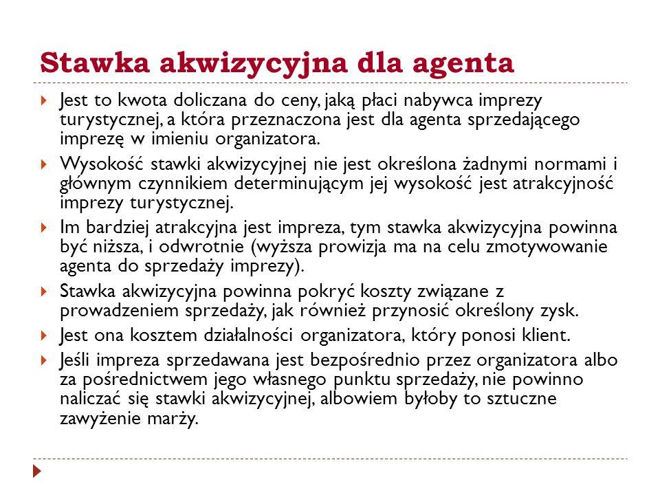 Stawka akwizycyjna dla agenta