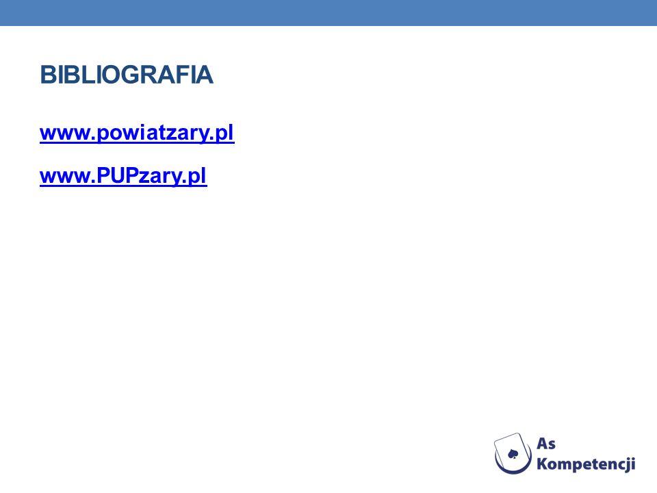 bibliografia www.powiatzary.pl www.PUPzary.pl