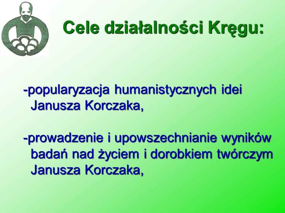 Cele działalności Kręgu: