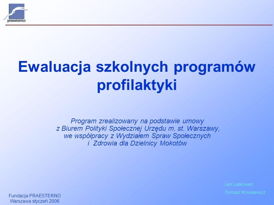 Ewaluacja szkolnych programów profilaktyki