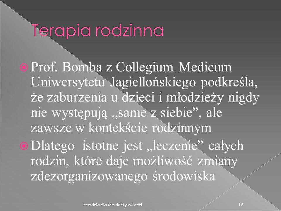 """Prof. Bomba z Collegium Medicum Uniwersytetu Jagiellońskiego podkreśla, że zaburzenia u dzieci i młodzieży nigdy nie występują """"same z siebie , ale zawsze w kontekście rodzinnym"""