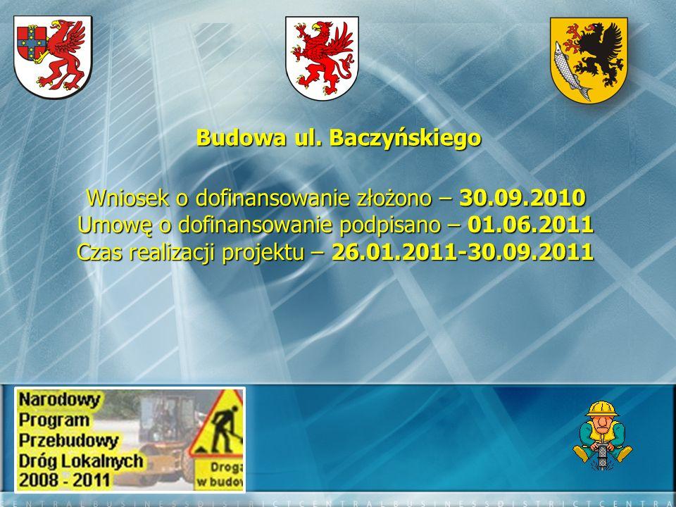 Budowa ul. Baczyńskiego