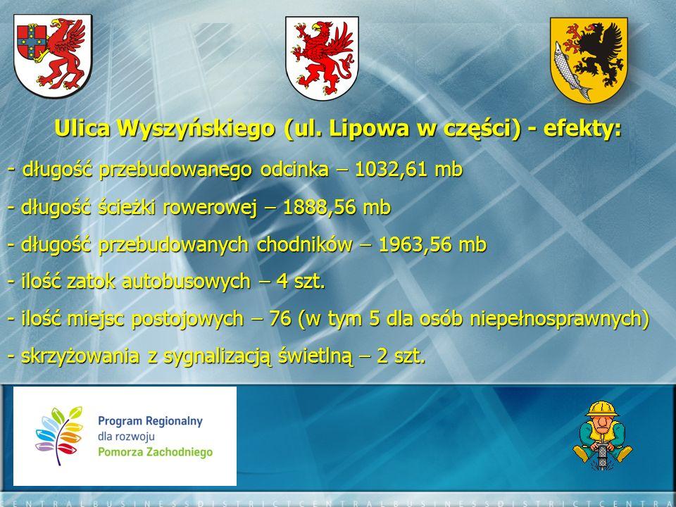 Ulica Wyszyńskiego (ul. Lipowa w części) - efekty: