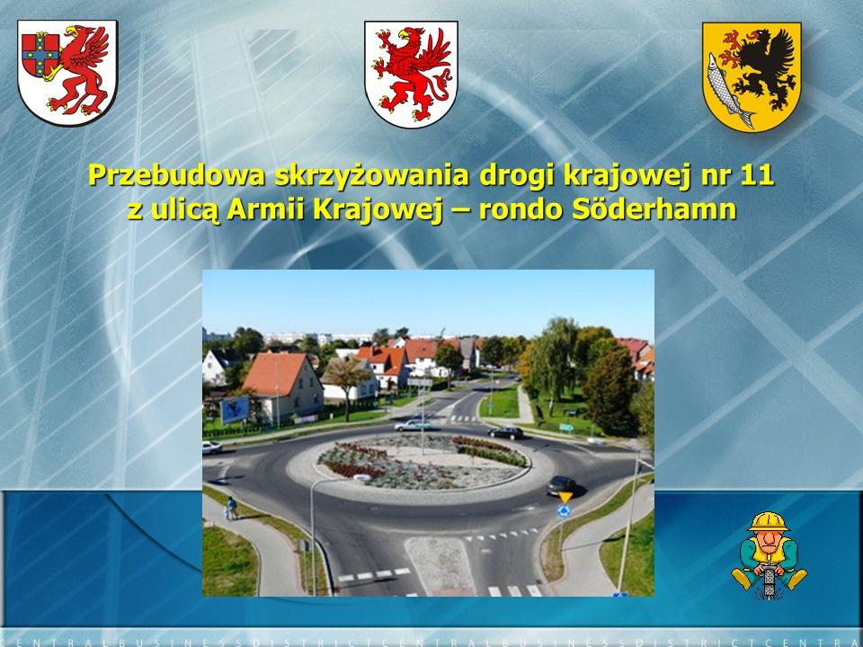 Przebudowa skrzyżowania drogi krajowej nr 11 z ulicą Armii Krajowej – rondo Söderhamn