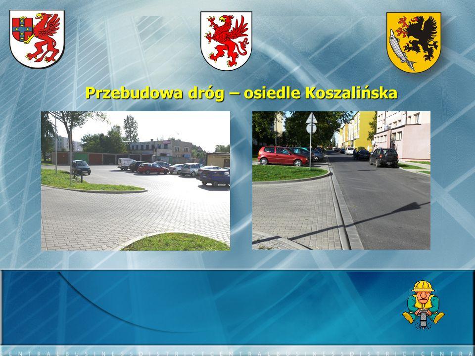 Przebudowa dróg – osiedle Koszalińska