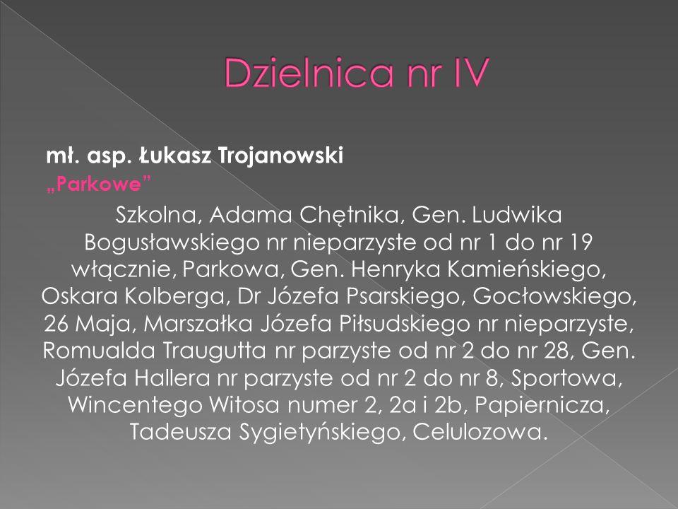 Dzielnica nr IV mł. asp. Łukasz Trojanowski