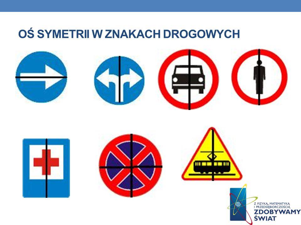 Oś symetrii w znakach drogowych