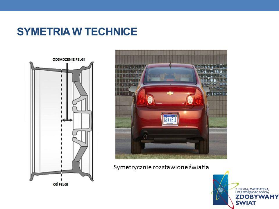 Symetria w technice Symetrycznie rozstawione światła