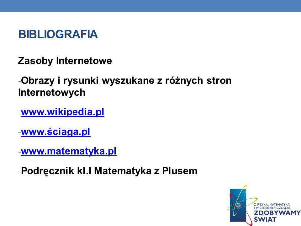 Bibliografia Zasoby Internetowe