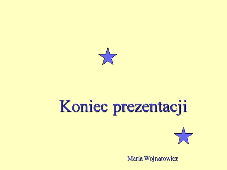 Koniec prezentacji Maria Wojnarowicz