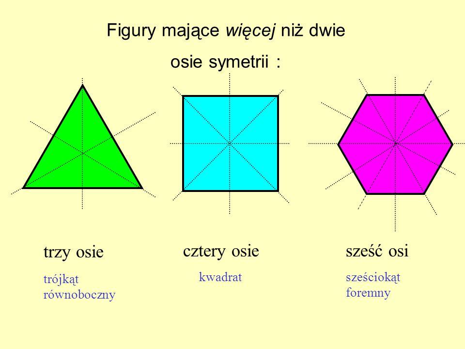 Figury mające więcej niż dwie osie symetrii :