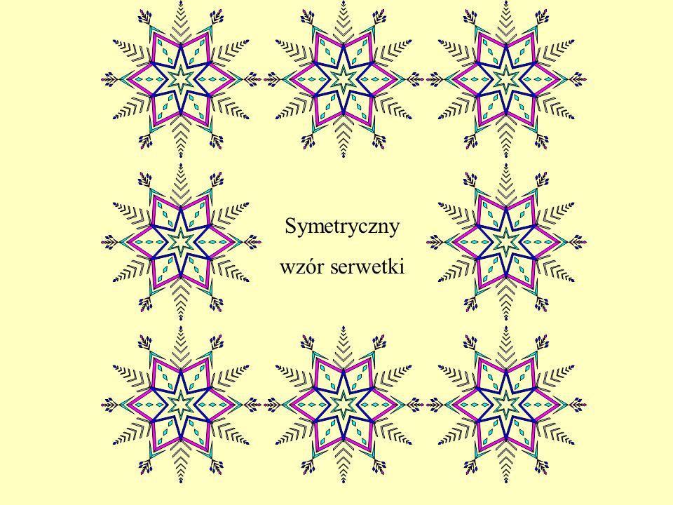 Symetryczny wzór serwetki
