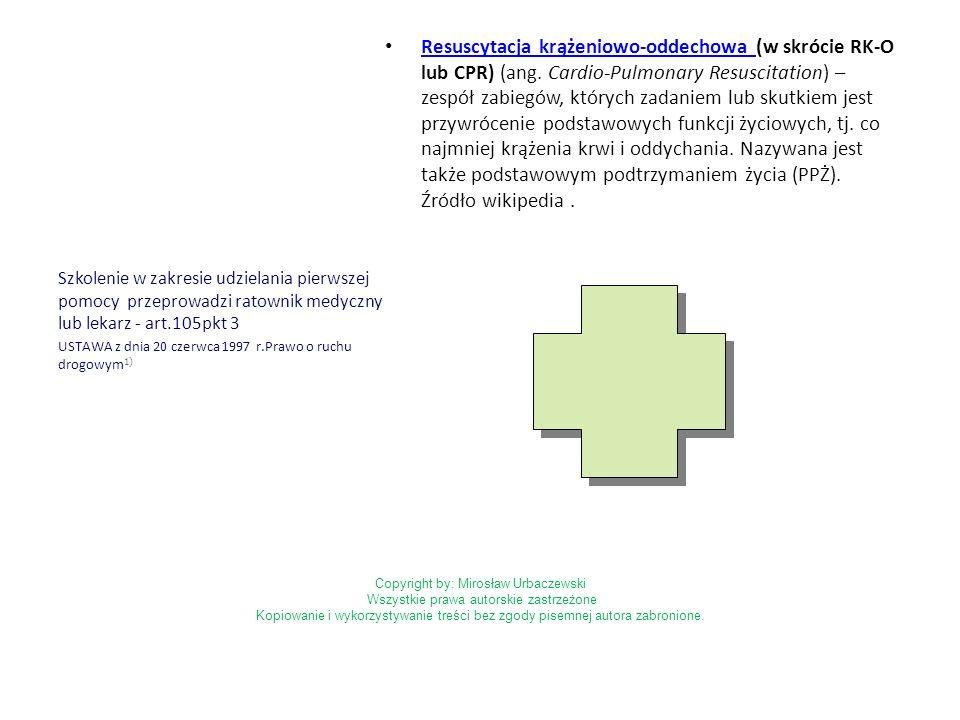 Resuscytacja krążeniowo-oddechowa (w skrócie RK-O lub CPR) (ang