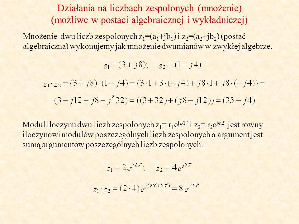 Działania na liczbach zespolonych (mnożenie)