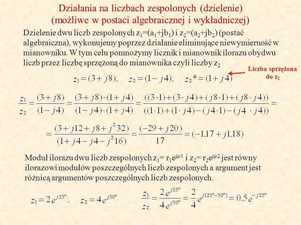 Działania na liczbach zespolonych (dzielenie)