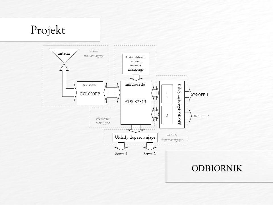 Projekt ODBIORNIK antena CC1000PP 1 AT90S2313 2 Układy dopasowujące