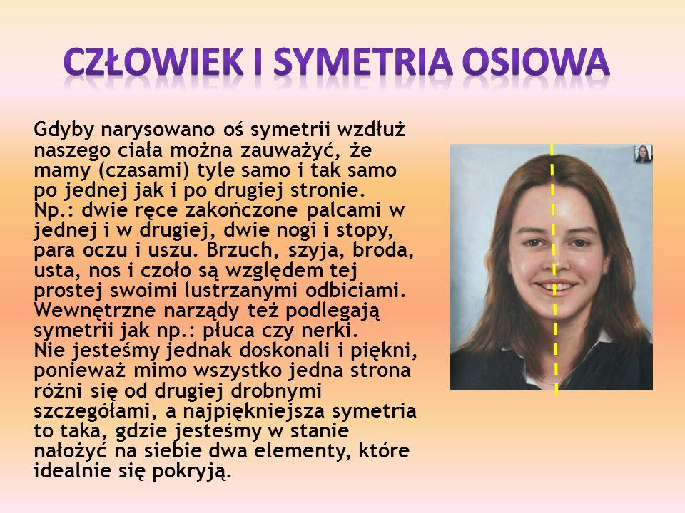 Człowiek i Symetria osiowa