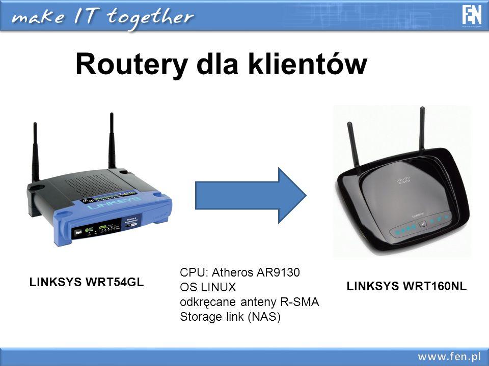 Routery dla klientów CPU: Atheros AR9130 OS LINUX LINKSYS WRT54GL