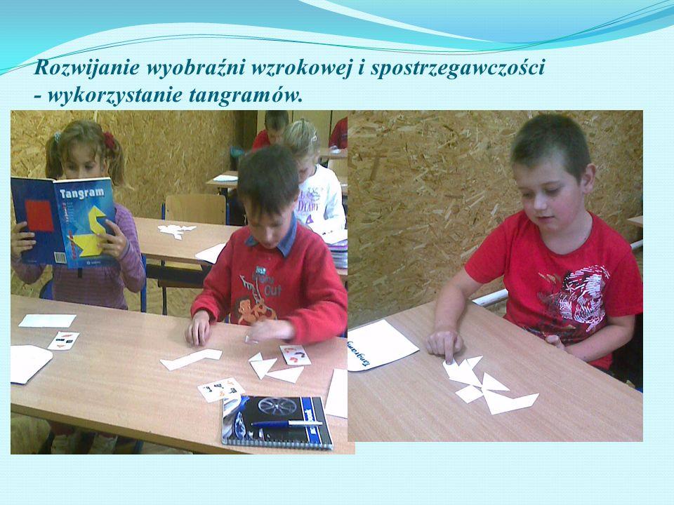 Rozwijanie wyobraźni wzrokowej i spostrzegawczości - wykorzystanie tangramów.
