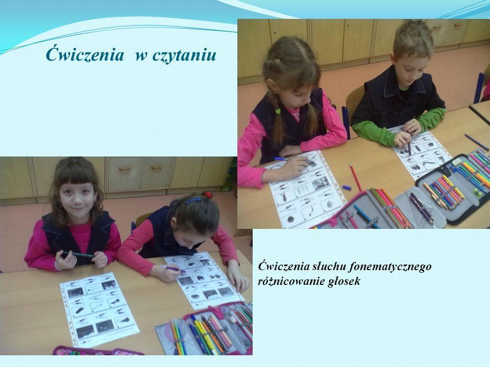 Ćwiczenia w czytaniu Ćwiczenia słuchu fonematycznego różnicowanie głosek