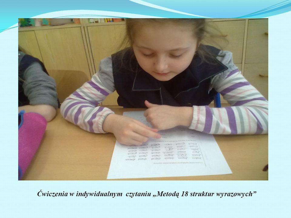 """Ćwiczenia w indywidualnym czytaniu """"Metodą 18 struktur wyrazowych"""