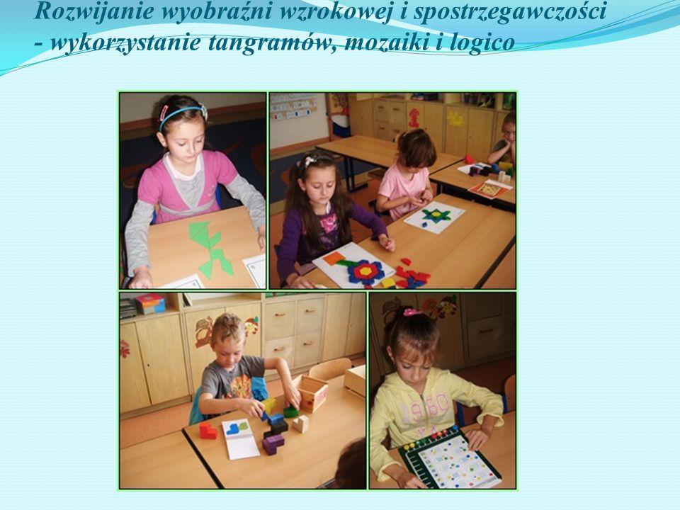Rozwijanie wyobraźni wzrokowej i spostrzegawczości - wykorzystanie tangramów, mozaiki i logico