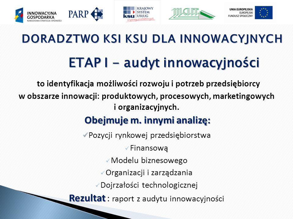 ETAP I - audyt innowacyjności